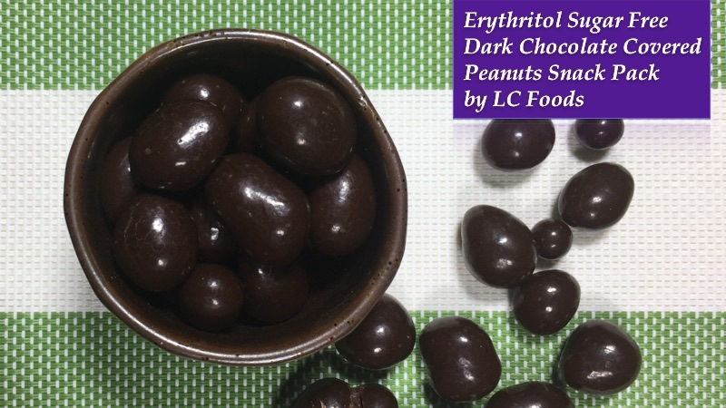 Erythritol Sugar Free Dark Chocolate Covered Peanuts Snack Pack by LC Foods