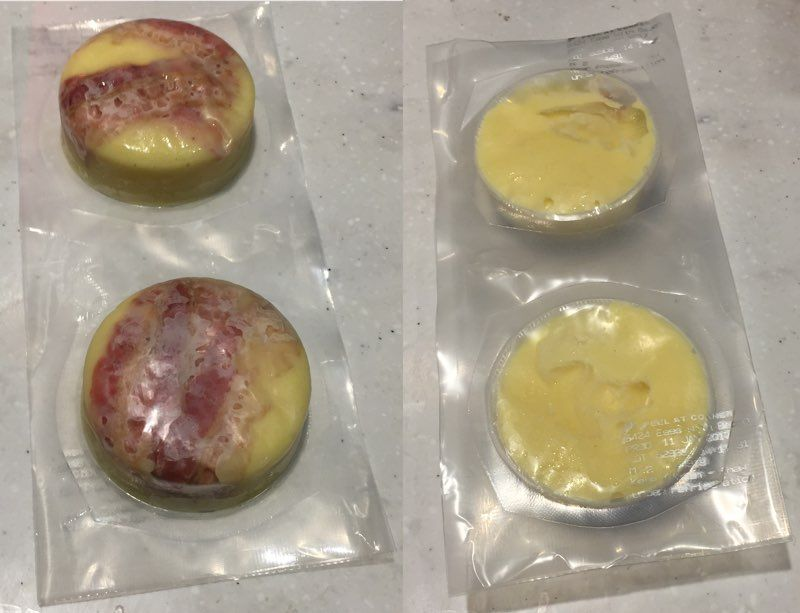Starbucks Sous Vide Egg Bites: Bacon & Gruyere in molds