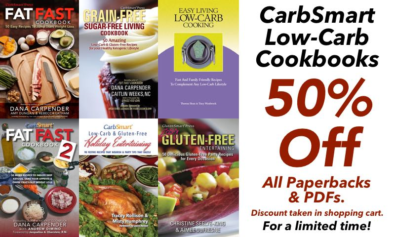 CarbSmart Half Price Cookbook Sale