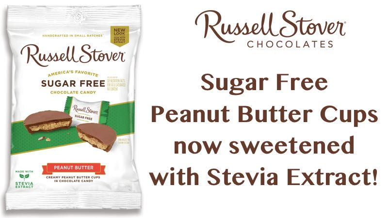 Russell Stover Sugar Free Peanut Butter Cups with Stevia 3 oz Bags