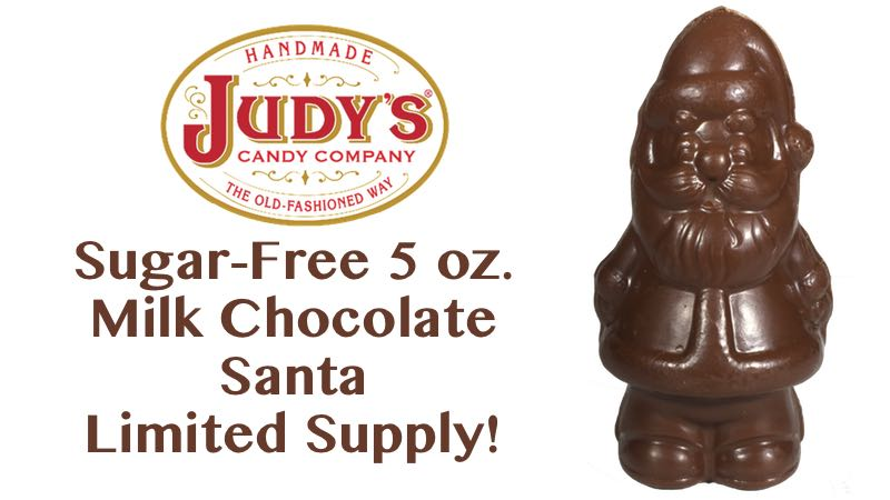Sugar-Free 5 oz Milk Chocolate Santa Limited Supply