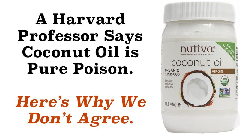A Harvard Professor Says Coconut Oil is Pure Poison. Here's Why We Don't Agree.