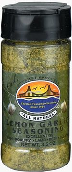 Carl's Gourmet All Natural Lemon Garlic Seasoning and Meat Rub