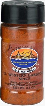 Carl's Gourmet All Natural Old Western Barbecue Spice Seasoning and Meat Rub