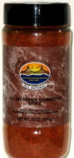 Carl's Gourmet All Natural Old Western Barbecue Spice Seasoning and Meat Rub 16 oz