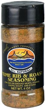Carl's Gourmet All Natural Prime Rib and Roast Seasoning and Meat Rub