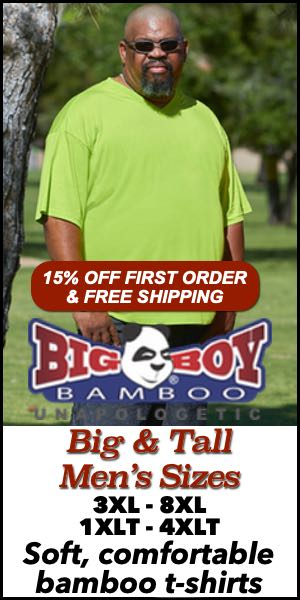 Men's Big & Tall T-Shirts from Big Boy Bamboo