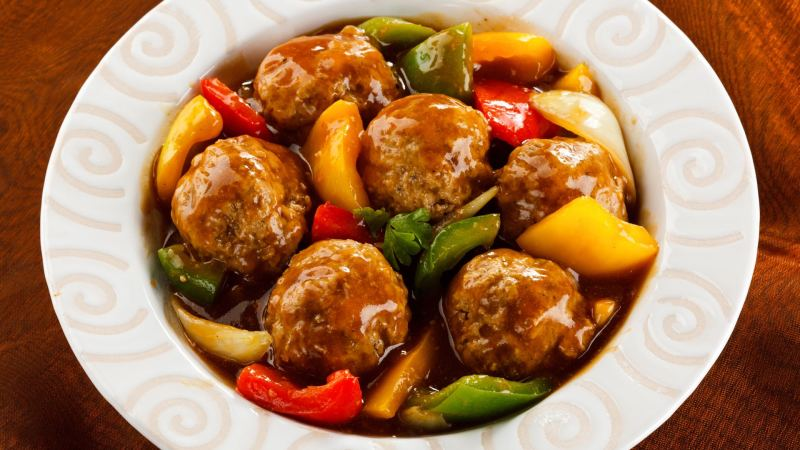 Low-Carb Sweet and Sour Meatballs in Sauce