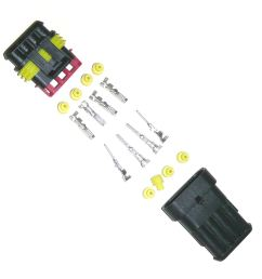waterproof multipin wiring connector 4 way [ 960 x 960 Pixel ]