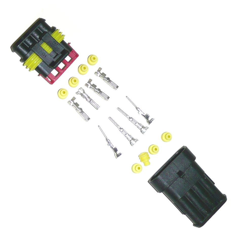 medium resolution of waterproof multipin wiring connector 4 way