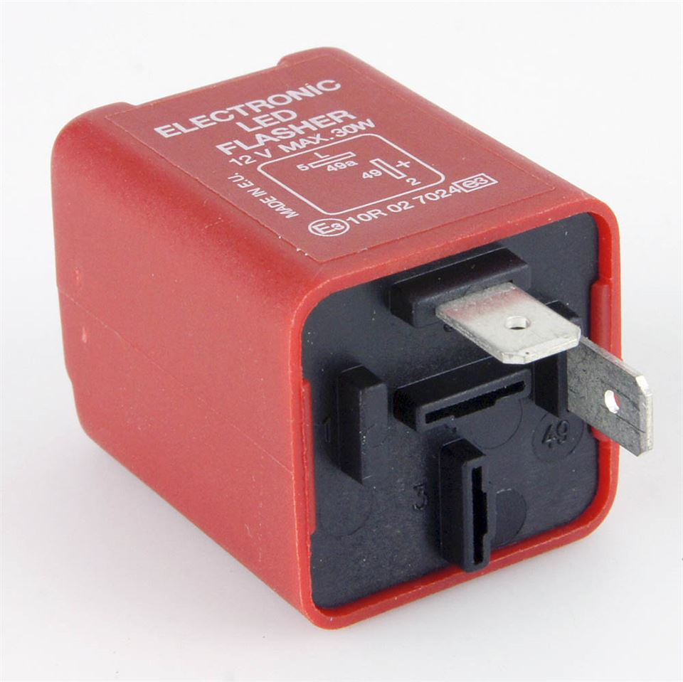 medium resolution of red 2 pin led flasher relay 30 watt max car builder solutions 2 pin led flasher relay wiring