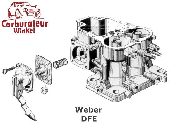 Weber DFE Carburateur Onderdelen