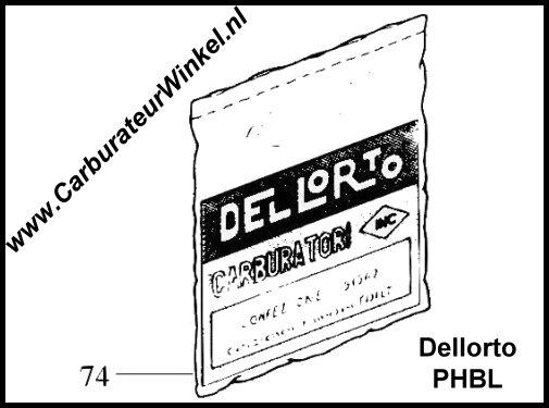 Dellorto PHBH en PHBL Carburateur Onderdelen