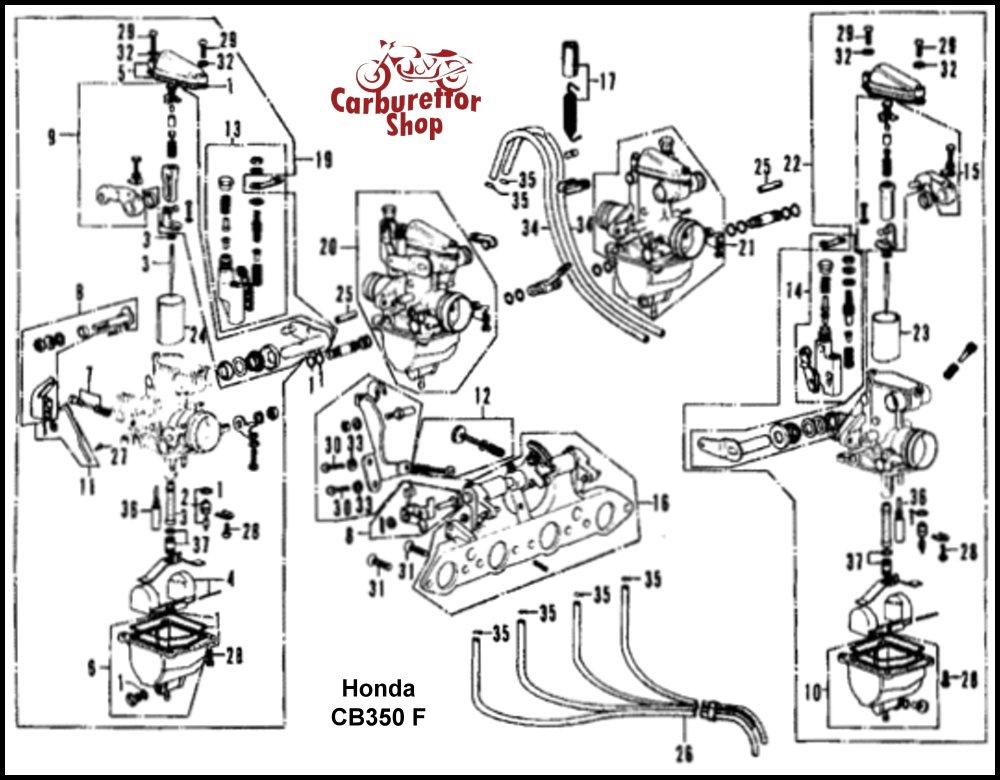 Honda CB350 Four Carburateur Revisie Sets