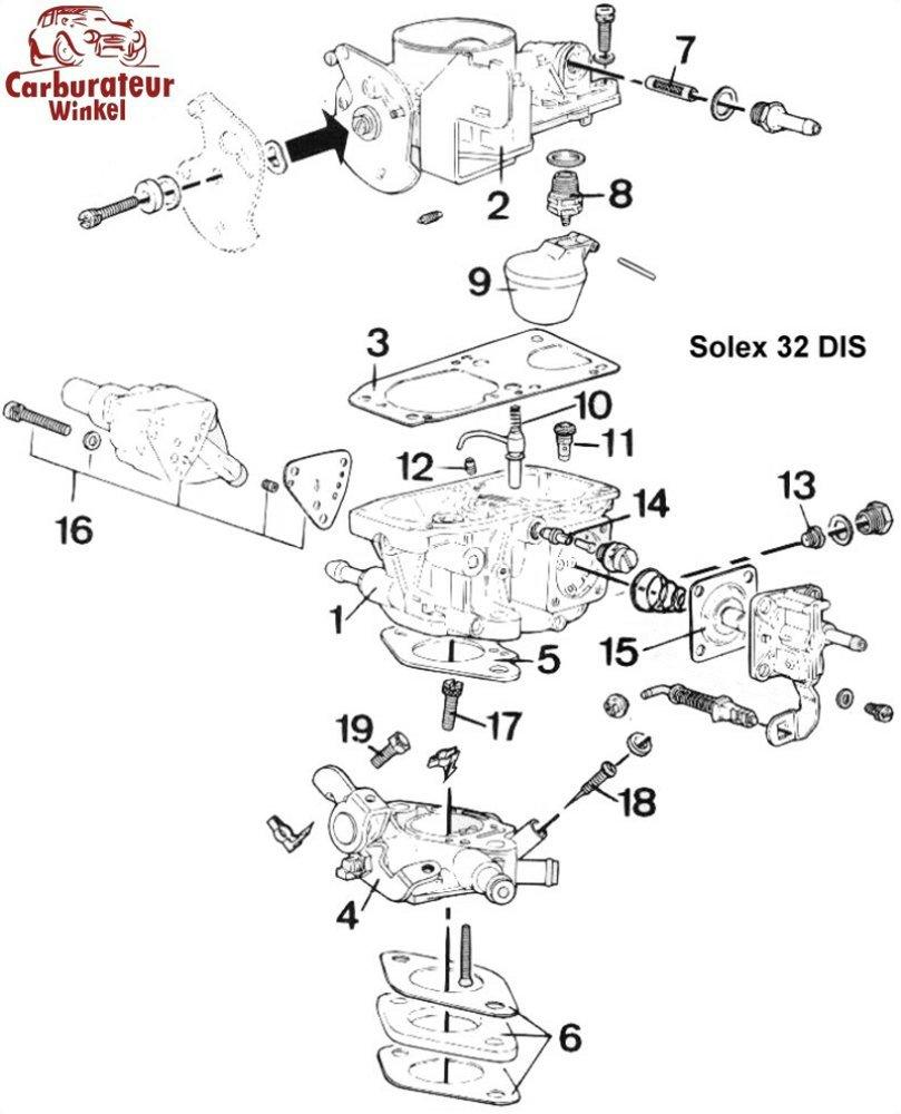 Solex DIS Carburateur Onderdelen