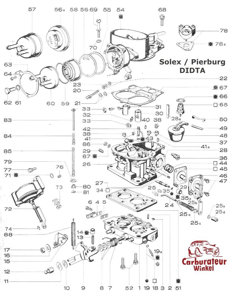 Solex DIDTA Carburateur Onderdelen