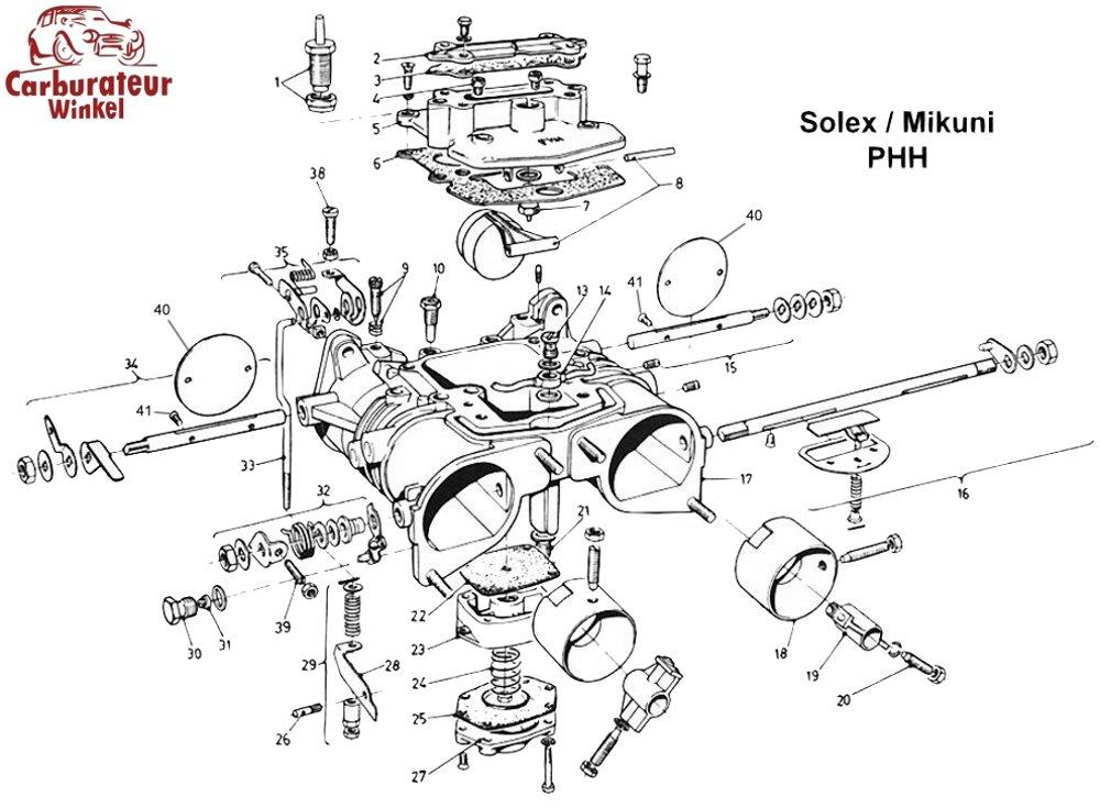 (25) Acceleratiepomp Membraan voor Solex PHHE carburateurs