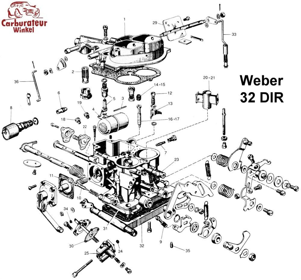 Weber DIR Carburateur Onderdelen
