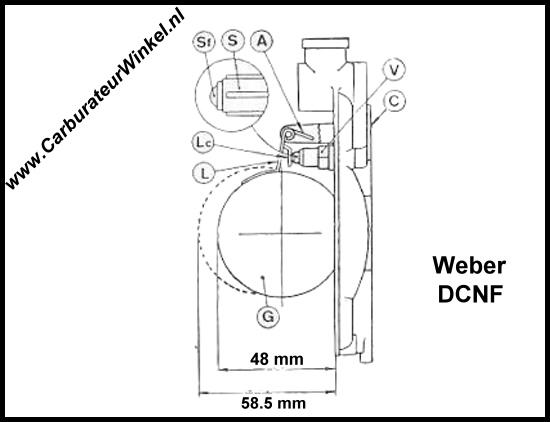 Weber DCNF Carburateur Onderdelen