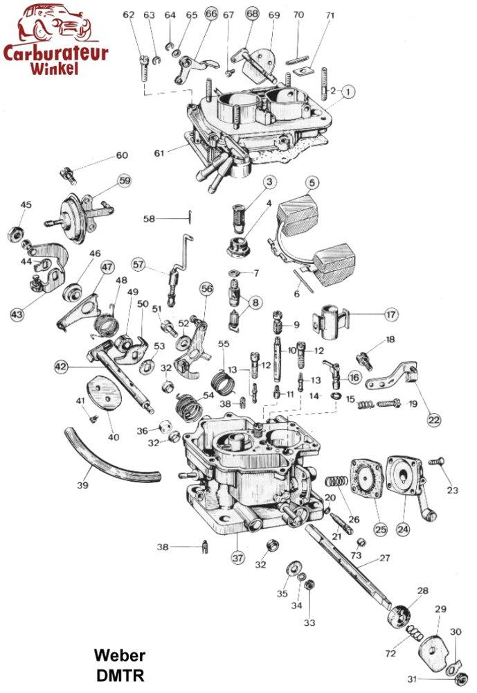 Weber DMTR Carburateur Onderdelen