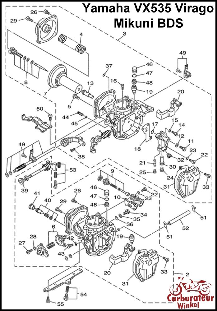Yamaha XV535 Virago Carburateur Revisie Sets