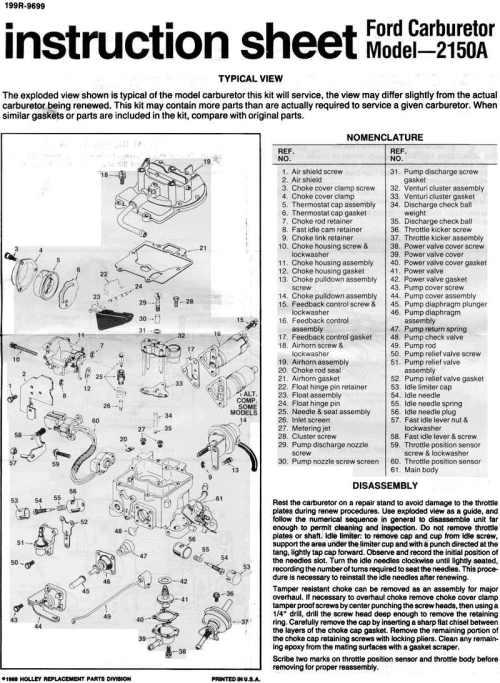 small resolution of ford motorcraft autolite carb id motorcraft 2100 carb vacuum diagram ford 2100 carburetor adjustment