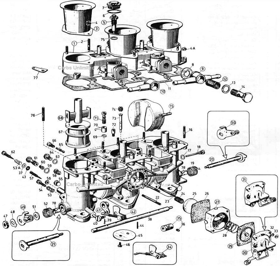 Weber 40/46 IDA 3 bbl Diagram