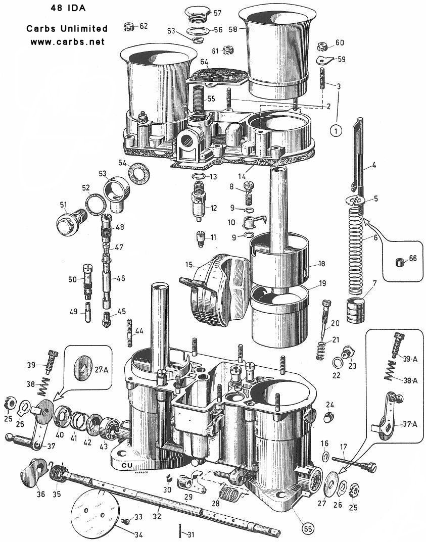 hight resolution of weber 48 ida carburetor