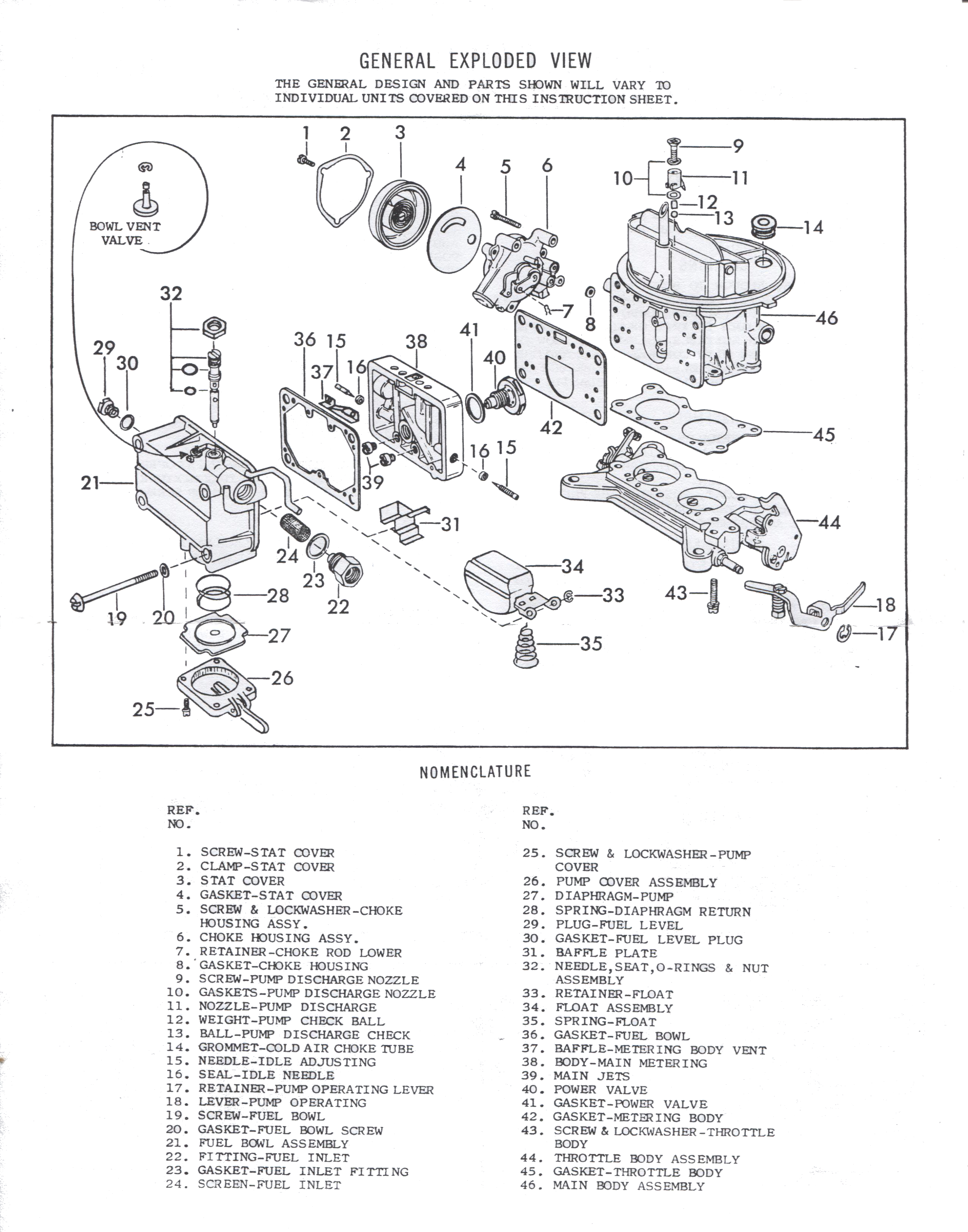 Holley 2300 Instruction Sheet
