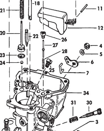Holley 1909 & 1940 Carburetor Power Valve Assembly