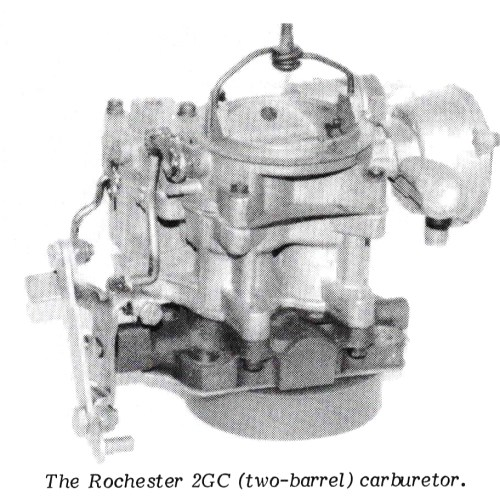 small resolution of the 2 barrel carburetor is available in two different models 2gc and 2gv the model 2gv has an automatic choke with the thermostatic coil installed on the
