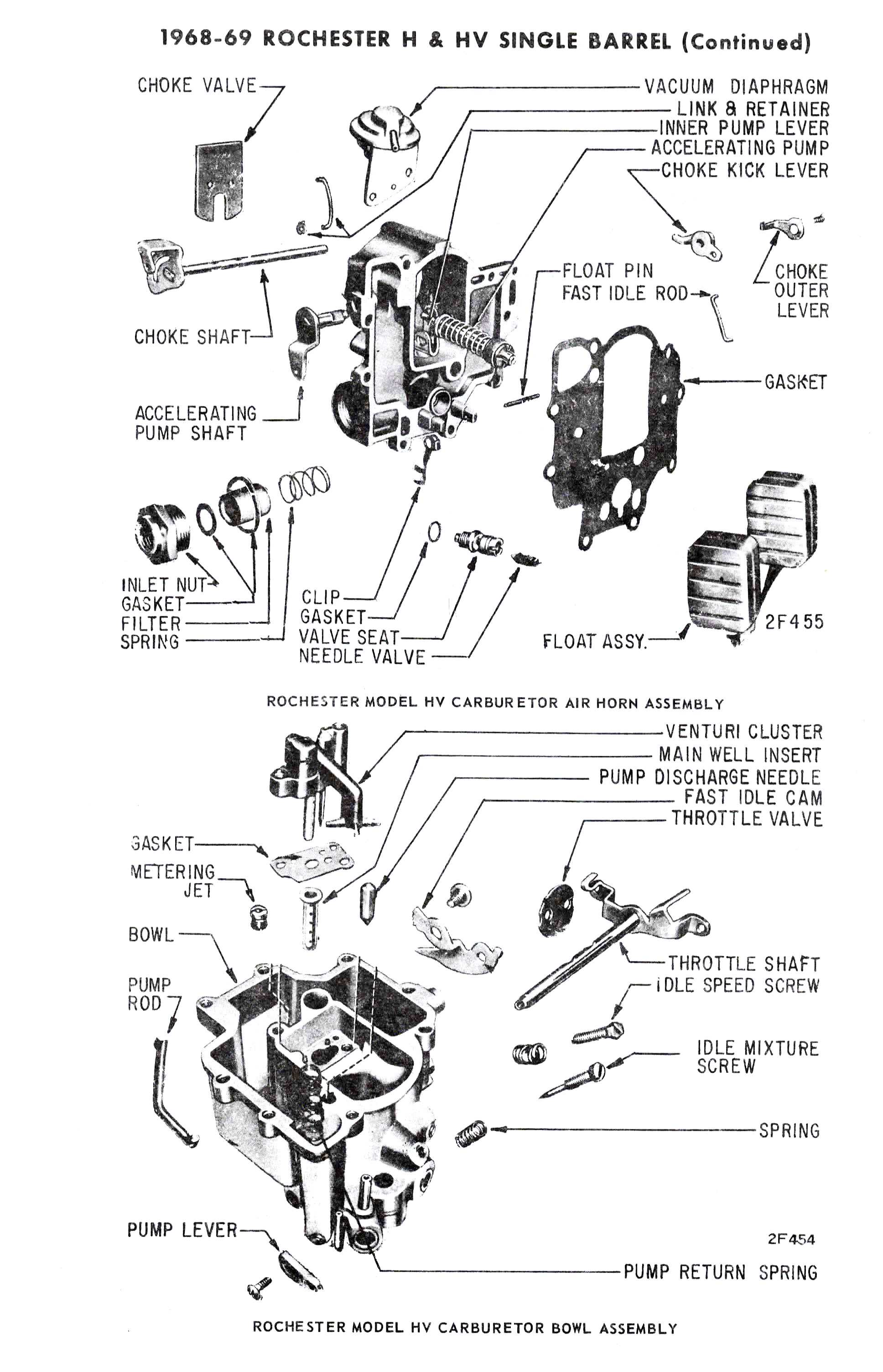 Rochester Hv H Exploded View