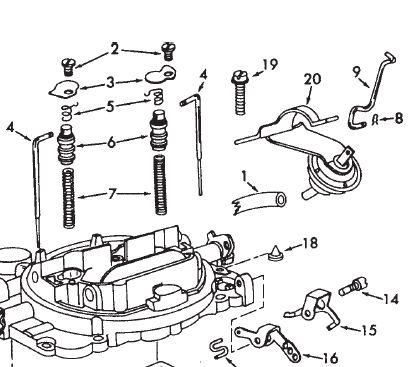 Carter AFB BBD Vacuum Break Choke Rod