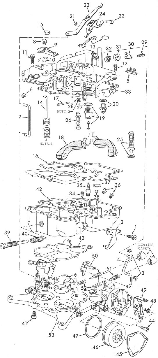 Carburetor Schematic Diagram Apply For Mikuni Hsr42 45 And