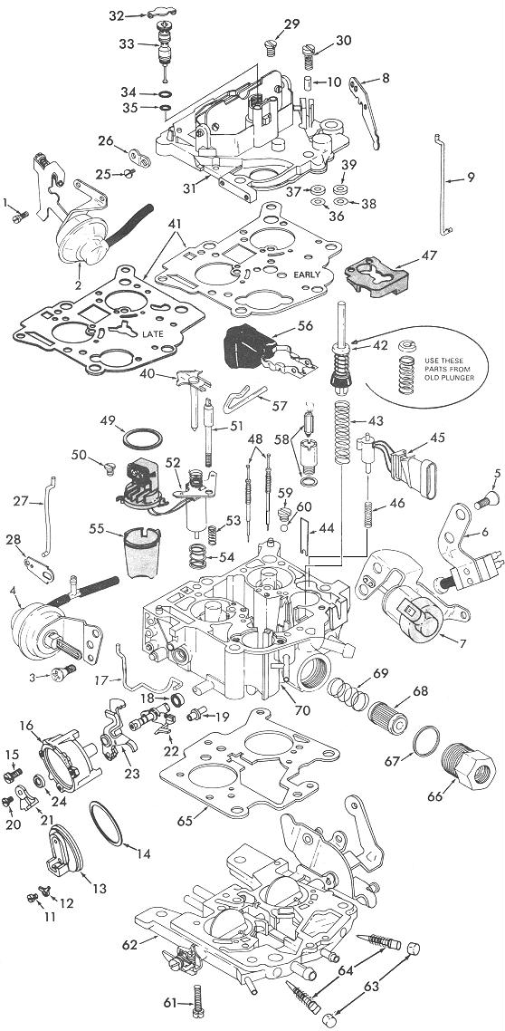 Rochester 210 Exploded View Carburetor Factory