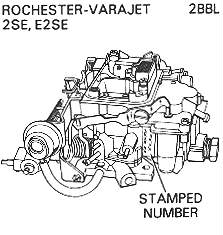 I am looking for a diagram of a Rochester carburetor for a