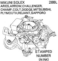 Honda and Solex Carburetor Illustrations