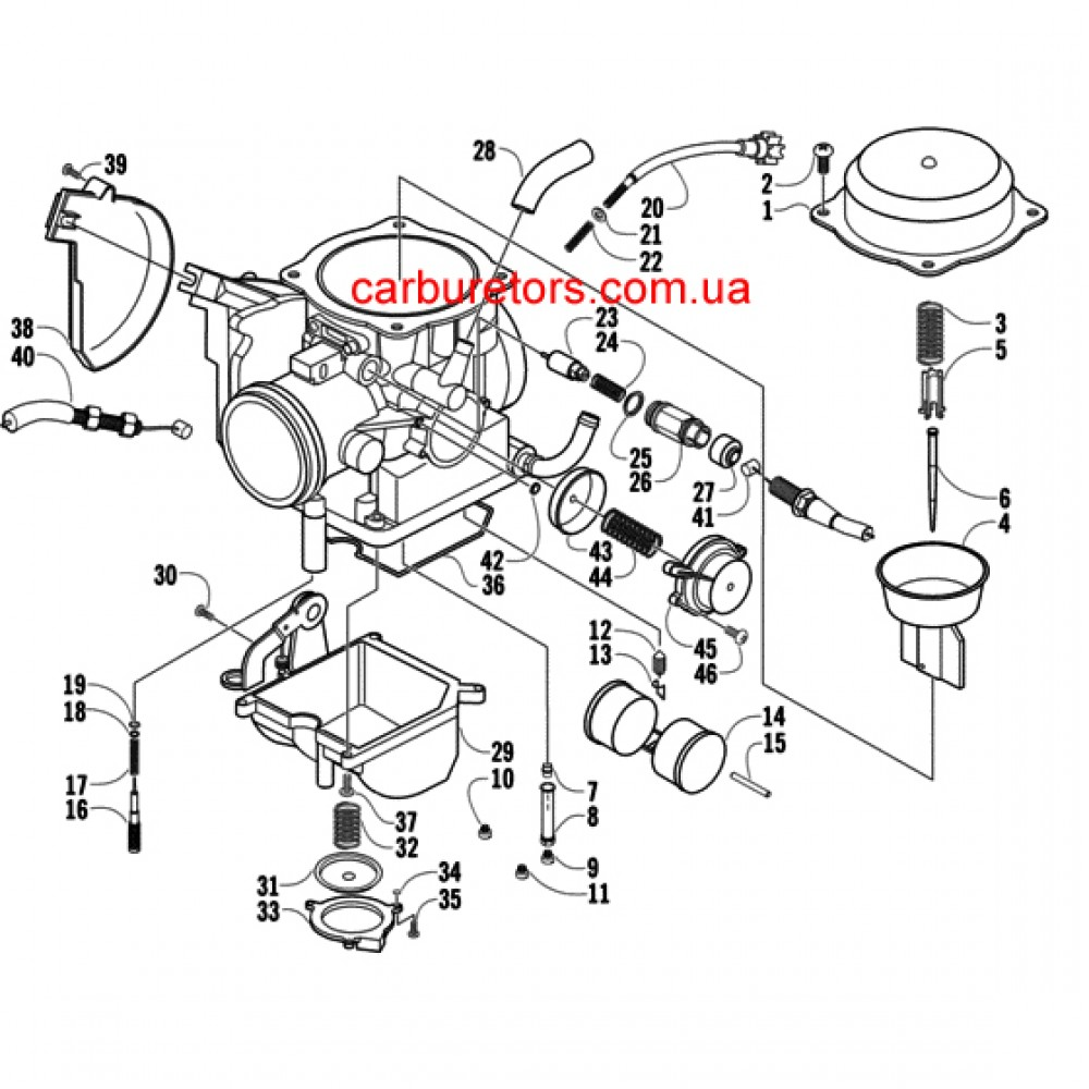 Carburetor Keihin CVK 36, manual choke cable