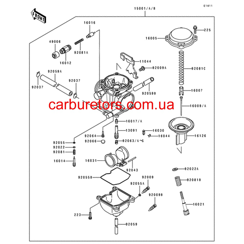 Carburetor Keihin CVK 34, manual choke cable