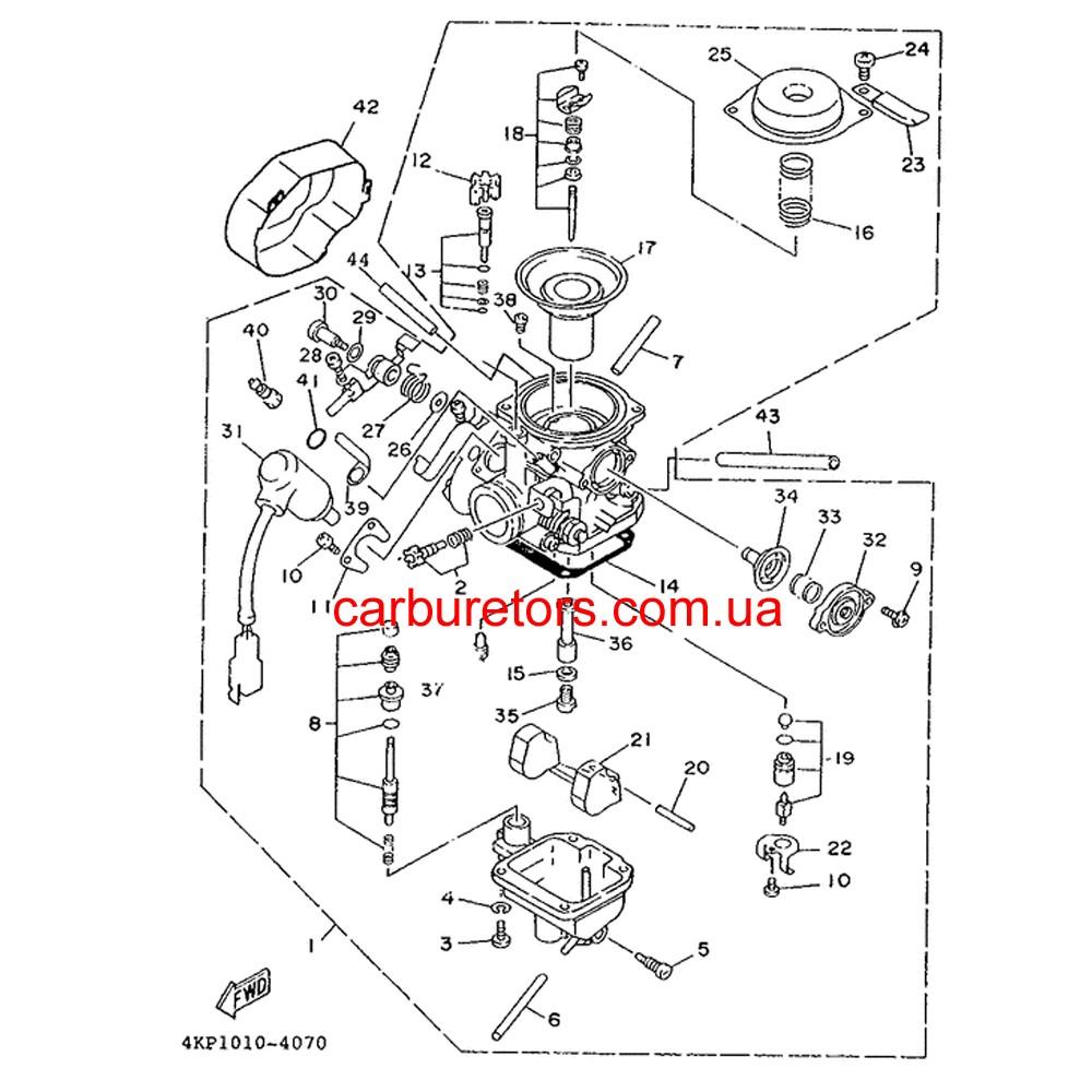 Carburetor Mikuni BS 26, electric choke