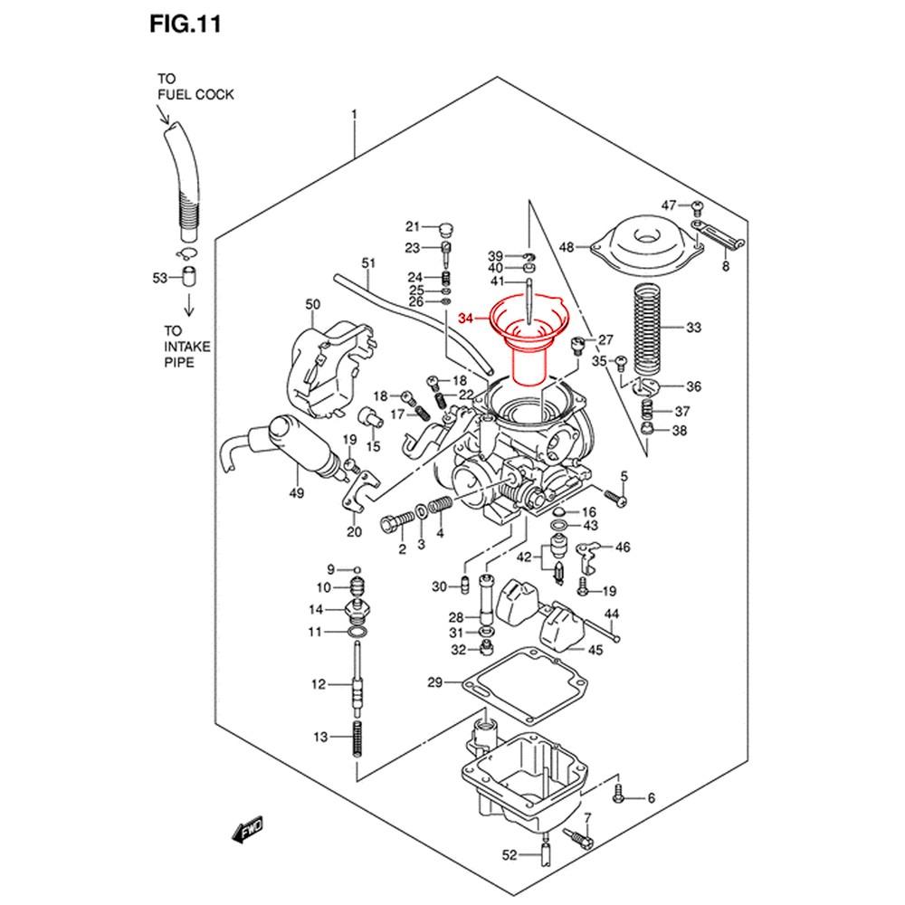 Mikuni BS 26 carburetor main membrane, diaphragm, valve