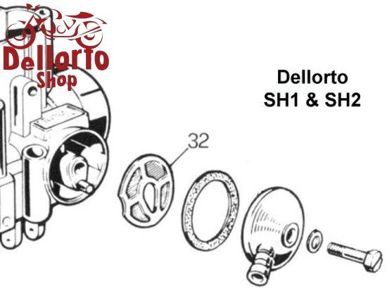 (32) Fuel Filter for Dellorto SH1 and SH2 carburetors