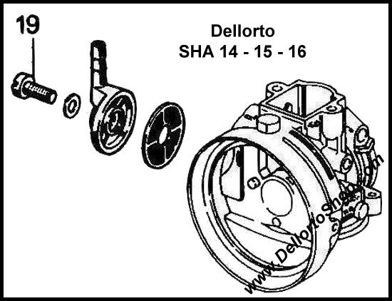 (19) Screw for Fuel Banjo on Dellorto SHA 14 15 16