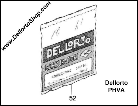 Dellorto PHBN and PHVA Carburetor Parts