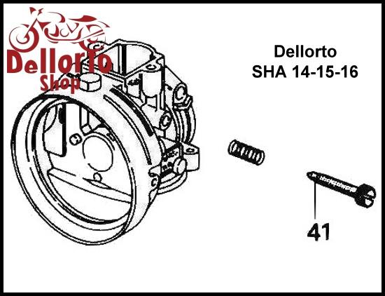 (41) Slide Stop Screw for Dellorto SHA 14 15 16
