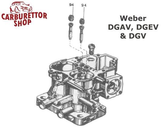 Weber DGAV, DGEV and DGV carburetor parts
