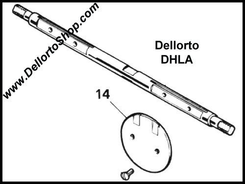 (14) Throttle Butterfly Disc for Dellorto DHLA48 carburetors