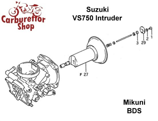 (F27) Throttle Slide for Mikuni carburetors for Suzuki