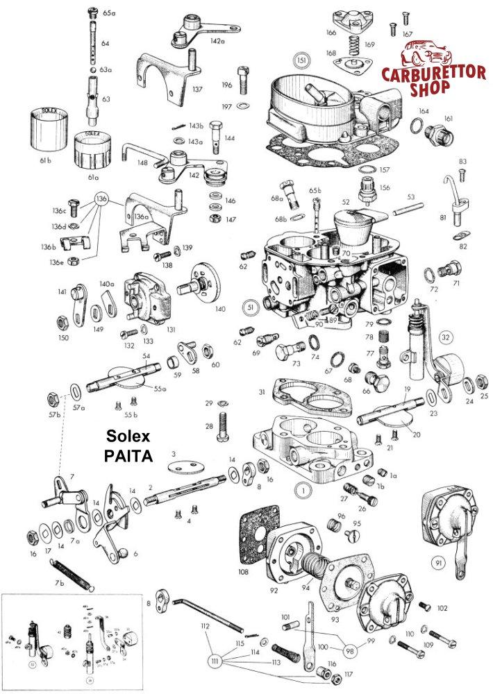 Solex PAITA Carburetor Parts