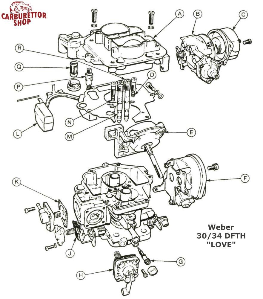 Weber DFTH Carburetor Parts